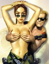 Lara Croft et Duke Nukem