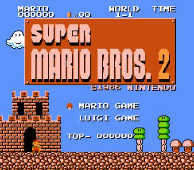 Super Mario Bros 2 Lost Levels NES