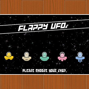 Flappy UFOs - HTML5 Game